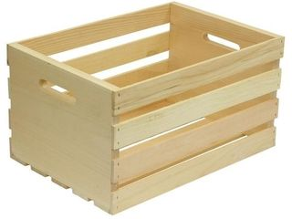 Crates 18 in  x 12 5 in  x 9 5 in  large Wood Crate