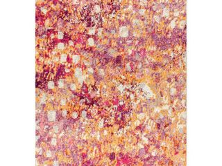 JONATHAN Y Contemporary Pop Modern Abstract Pink Orange 5 ft  x 8 ft  Area Rug