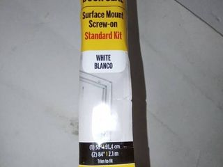 Top   Sides Door Seal  Surface Moubt Screw on Standard kit  Aluminum w  vinyl bulb seal  White  1  36   2  84  Trim to fit