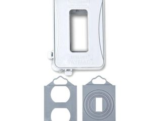 Bell Outlet Cover Ml500W 1 Gang Horizontal Vertical Mount Weatherproof Expandable low Profile Extra Duty While in Use Cover  White