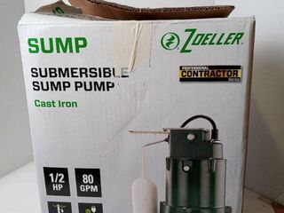 Zoeller 1096 1 2 Hp 80gpm Submersible Sump Pump