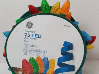 Ge Staybright 75 led Multi color C9 lights Green Wire Indoor outdoor 37ft