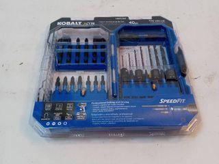 Kobalt Xtr Impact 40 piece High speed Steel Hex Shank Screwdriver Bit Set