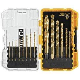 DEWAlT Titanium Twist Drill Bit Set