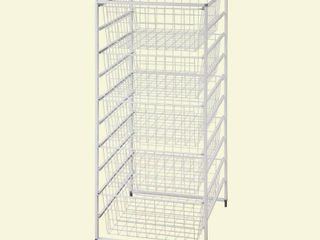 ClosetMaid 17 875 in  x 41 in  Drawer Kit with 5 Wire Basket  White