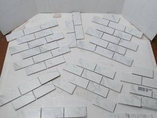 Regent Carrara Glossy Porcelain Mosaics 2 x4