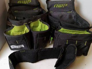 AWP tool belt black and green