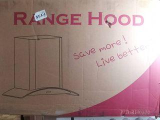 AKDY 30  Wall Mount Stainless Steel Push Panel Kitchen Range Hood Cooking Fan