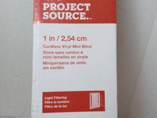 Project Source Cordless Vinyl Mini Blind 34 x 64  33 5