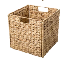 Noble Connect Full Size Foldable Wicker Storage Basket   Set of 2