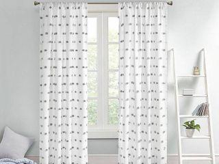 Intelligent Design Sophie Pom Pom Embellished Curtain Panel Set