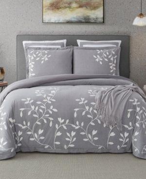 laurel Park Autumn Chain Emb Cotton Comforter Set Bedding   King