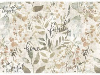 Asher Home Family Rectangle Printed Placemats   4 Pack