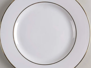 Ten Strawberry Street Double Gold line luncheon Plates   6 Pack