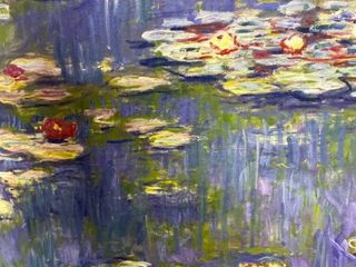 Water lilies  by Claude Monet Canvas Print