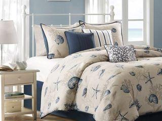 Rockaway Cotton Printed Comforter Set   King