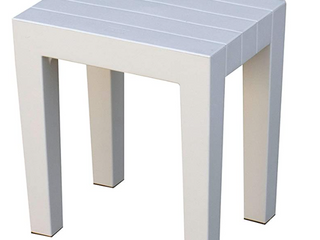 Indestructible Recyclable Plastic End Table Shower Seat
