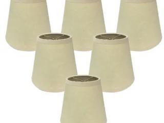 Royal Designs Beige Parchment lamp Shades   Set of 6