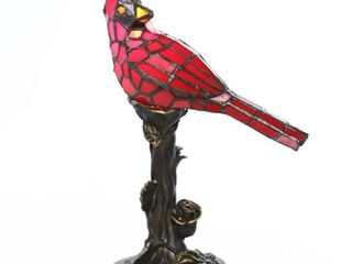 River of Goods Stained Glass Cardinal Bird Accent lamp