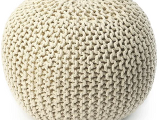 The Curated Nomad Vienti Pincushion Woven Pouf