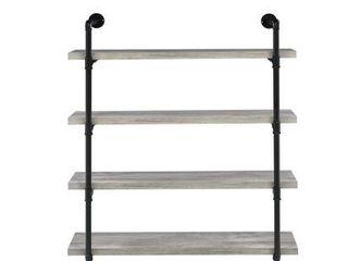 Wall Shelf w  4 Storage Shelves