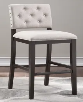 lindale Button Tufted Stationary Counter Height Chair