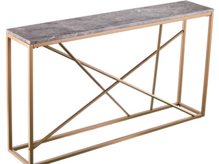 Strick   Bolton Sigrid Faux Marble Skinny Console Table