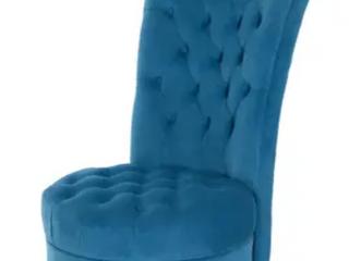 HomCom Tufted High Back Velveteen Accent Chair