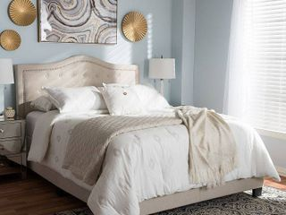 Baxton Studio Emerson Modern   Contemporary Fabric Upholstered Bed   Full