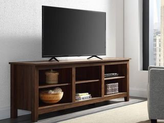 Wood Media TV Stand Storage Console