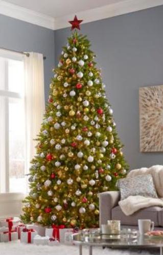 Noble Fir Pre lit String light Christmas Tree