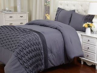 Superior Arabella Collection Wrinkle Resistant Down Alternative 2 Piece Comforter Set California King