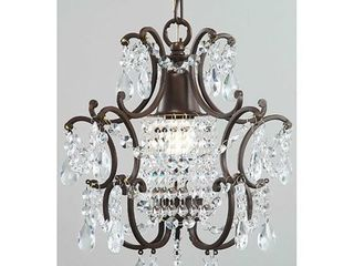 Clear Crystal Brown Base Mini Chandelier Retail 81 99