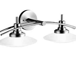 Kichler lighting Structures Collection 2 light Chrome Bath Vanity light