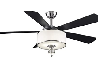 Fanimation Studio Collection lp8242sblch Victoria Harbor Ceiling Fan With led