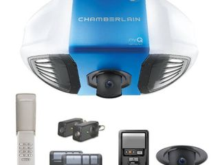 Chamberlain 3 4 HP DC Belt Drive Wi Fi Plus lift Power with Integrated Camera Garage Door Opener
