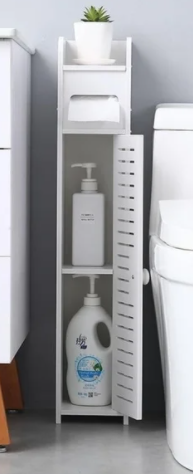 Paper Towel Storage Narrow Bathroom Cabinet