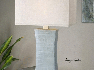 Uttermost Cantarana 1 light Pale Blue Grey Table lamp  Retail 310 20