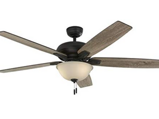 Harbor Breeze Cooperstown 62 in Bronze led Indoor Ceiling Fan With light Kit