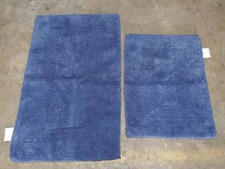 Bathroom Mat Set Blue