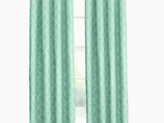 Allen   Roth Curtains Blue Aqua Set Of 2 52inx84in Grommet Top Panel