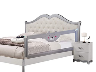 Seven Colors Bed Rail Guard 70 8inch Grey Bear Design