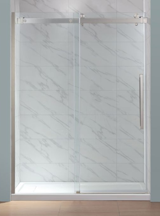 Bel Soft Close Shower Glass Panel 60