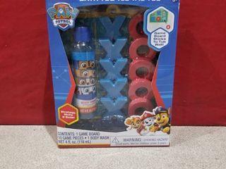 Nickelodeon Spin Master Paw Patrol Bath Tub Tic Tac Toe Kids Game With Body Wash
