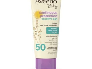 Aveeno Baby continuous protection sensitive skin Sunscreen Broad Spectrum SPF50   lOTION