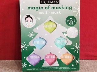 lot 3 Freeman Magic Masking Kits Clean Polish Hydrate Detox Sooth 18 Face Masks