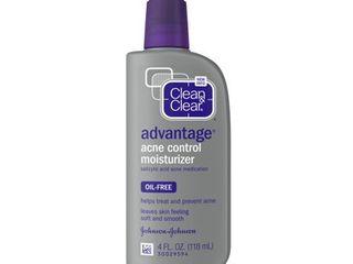 Clean   Clear Advantage Acne Control Oil Free Face Moisturizer  4 fl  oz