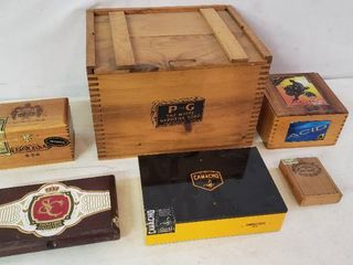 Wooden Boxes  6Total