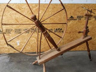 Beautiful   large  45  Wheel  Antique Walking Spinning Wheel