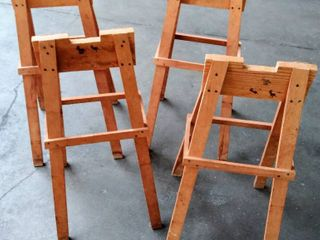lot of 4 Children s Wood Stacking Easels  29 5  Tall